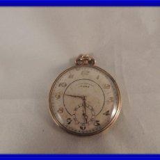 Relojes de bolsillo: RELOJ BOLSILLO CYMA CRONOMETRO PLAQUE ORO15 RUBIES NUMERADO. Lote 105072851