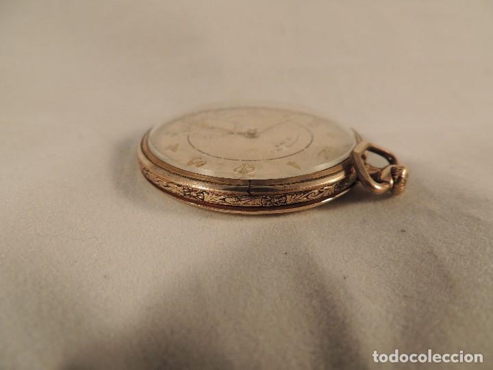 Relojes de bolsillo: RELOJ BOLSILLO CYMA CRONOMETRO PLAQUE ORO15 RUBIES NUMERADO - Foto 2 - 105072851
