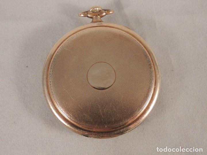 Relojes de bolsillo: RELOJ BOLSILLO CYMA CRONOMETRO PLAQUE ORO15 RUBIES NUMERADO - Foto 4 - 105072851