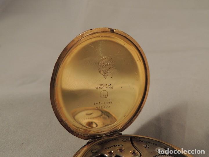 Relojes de bolsillo: RELOJ BOLSILLO CYMA CRONOMETRO PLAQUE ORO15 RUBIES NUMERADO - Foto 5 - 105072851