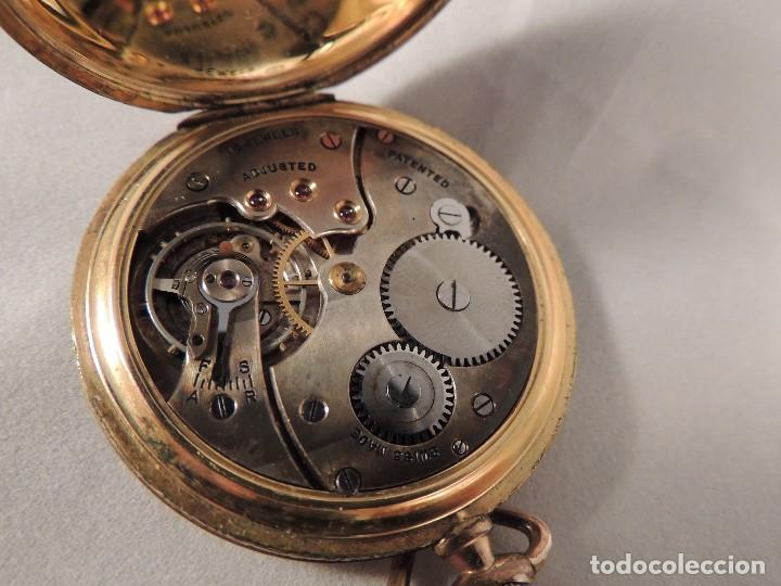 Relojes de bolsillo: RELOJ BOLSILLO CYMA CRONOMETRO PLAQUE ORO15 RUBIES NUMERADO - Foto 6 - 105072851
