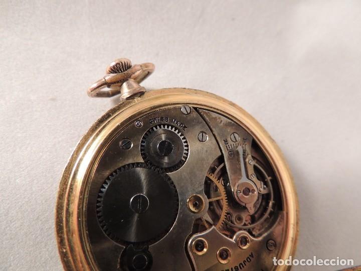 Relojes de bolsillo: RELOJ BOLSILLO CYMA CRONOMETRO PLAQUE ORO15 RUBIES NUMERADO - Foto 8 - 105072851