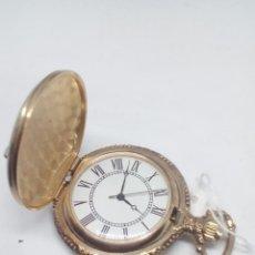 Relojes de bolsillo: RELOJ BOLSILLO GANSO QUARZ MEDIDAS 4 CM PESO 39 GR PILA NUEVA MUY BONITO. Lote 105192955