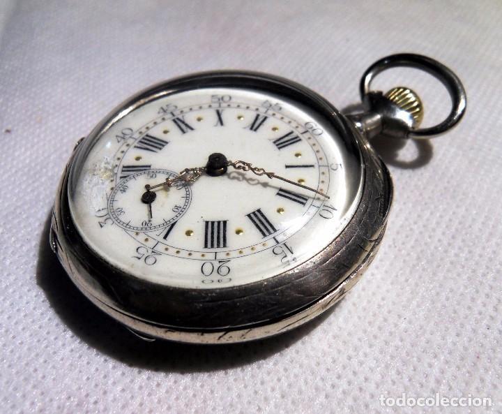 LEPINE FRENCH - SILVER Cª 1880 (Relojes - Bolsillo Carga Manual)