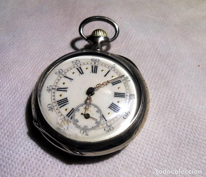 Relojes de bolsillo: LEPINE FRENCH - SILVER Cª 1880 - Foto 2 - 105306991