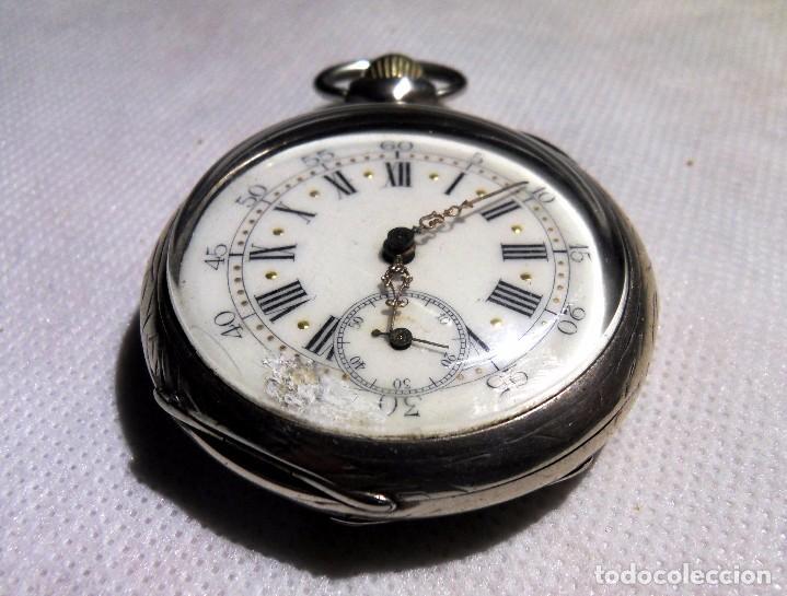 Relojes de bolsillo: LEPINE FRENCH - SILVER Cª 1880 - Foto 4 - 105306991