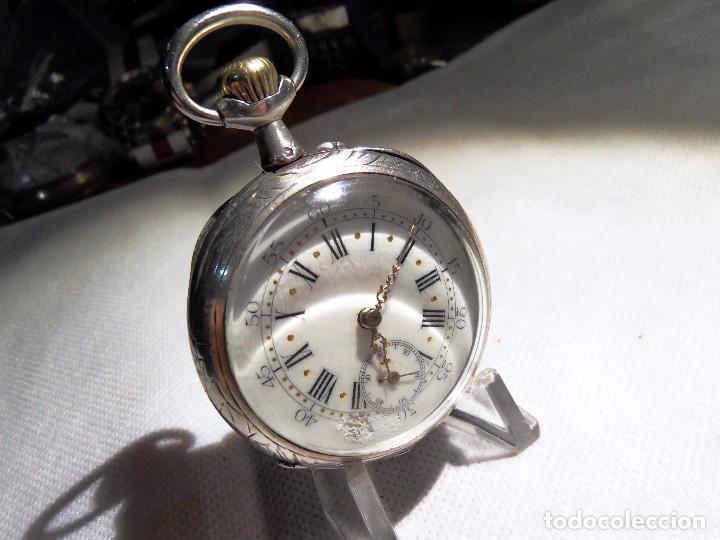 Relojes de bolsillo: LEPINE FRENCH - SILVER Cª 1880 - Foto 16 - 105306991