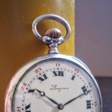 Relojes de bolsillo: RELOJ DE BOLSILLO LONGINES GRAND PRIX EN PLATA 800 C.1920-1930. Lote 105354307