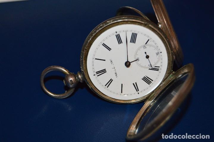 VINTAGE - ANTIQUÍSIMO RELOJ DE BOLSILLO DE PLATA - KENDALL & DENT - CARGA MANUAL - HAZ OFERTA (Relojes - Bolsillo Carga Manual)