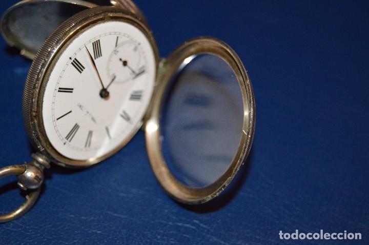 Relojes de bolsillo: VINTAGE - ANTIQUÍSIMO RELOJ DE BOLSILLO DE PLATA - KENDALL & DENT - CARGA MANUAL - HAZ OFERTA - Foto 3 - 106021219