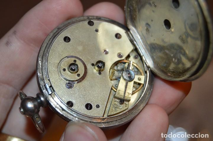 Relojes de bolsillo: VINTAGE - ANTIQUÍSIMO RELOJ DE BOLSILLO DE PLATA - KENDALL & DENT - CARGA MANUAL - HAZ OFERTA - Foto 7 - 106021219