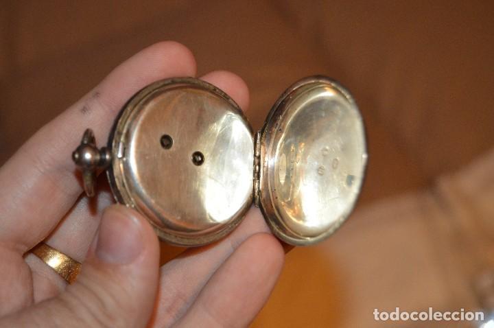 Relojes de bolsillo: VINTAGE - ANTIQUÍSIMO RELOJ DE BOLSILLO DE PLATA - KENDALL & DENT - CARGA MANUAL - HAZ OFERTA - Foto 8 - 106021219