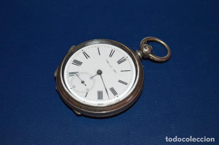 Relojes de bolsillo: VINTAGE - ANTIQUÍSIMO RELOJ DE BOLSILLO DE PLATA - KENDALL & DENT - CARGA MANUAL - HAZ OFERTA - Foto 10 - 106021219