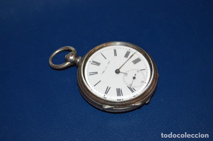 Relojes de bolsillo: VINTAGE - ANTIQUÍSIMO RELOJ DE BOLSILLO DE PLATA - KENDALL & DENT - CARGA MANUAL - HAZ OFERTA - Foto 12 - 106021219