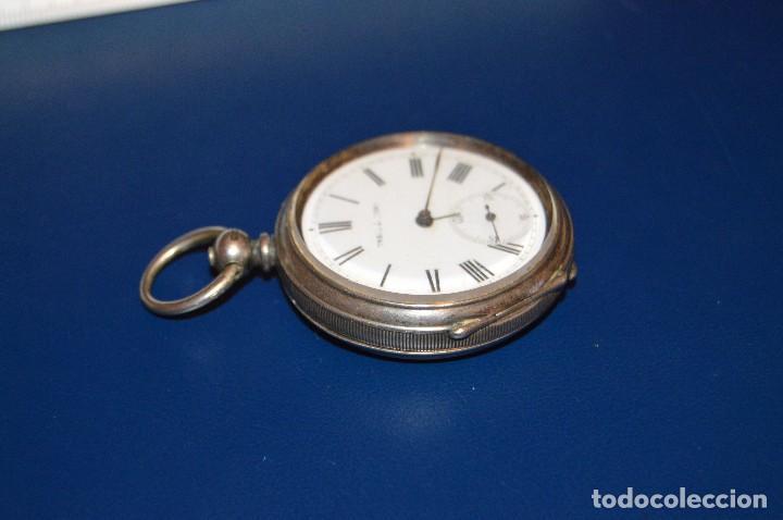 Relojes de bolsillo: VINTAGE - ANTIQUÍSIMO RELOJ DE BOLSILLO DE PLATA - KENDALL & DENT - CARGA MANUAL - HAZ OFERTA - Foto 13 - 106021219