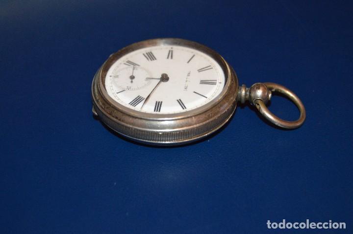 Relojes de bolsillo: VINTAGE - ANTIQUÍSIMO RELOJ DE BOLSILLO DE PLATA - KENDALL & DENT - CARGA MANUAL - HAZ OFERTA - Foto 14 - 106021219