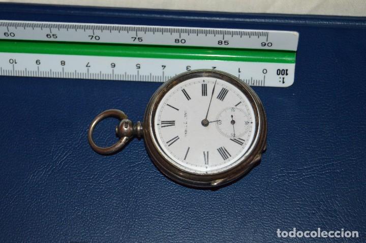 Relojes de bolsillo: VINTAGE - ANTIQUÍSIMO RELOJ DE BOLSILLO DE PLATA - KENDALL & DENT - CARGA MANUAL - HAZ OFERTA - Foto 18 - 106021219