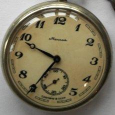 Relojes de bolsillo: ANTIGUO RELOJ DE BOLSILLO RUSO DE LA MARCA MOLNIJA AÑOS 60 CON SILUETA DE IGOR DIATLOV MONTES URALES. Lote 106097303