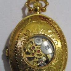 Relojes de bolsillo: RELOJ DE BOLSILLO CARGA MANUAL, CHAPADO EN ORO. Lote 106936263