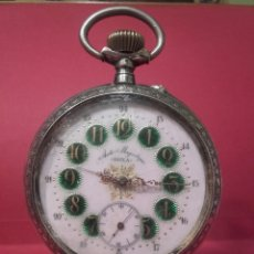 Relojes de bolsillo: MAGNÍFICO RELOJ DE BOLSILLO ANTI-MAGNETIQUE DOXA DE PLATA, FERROVIARIO, DE GRAN TAMAÑO.. Lote 106991914