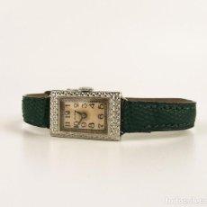 Relojes de bolsillo: ELGIN - RELOJ DE PULSERA PARA MUJER ORO 14K - ART DECÓ AÑOS 40. Lote 107034699