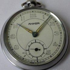 Relojes de bolsillo: INTERESANTE RELOJ DE BOLSILLO MARCA ANKER FABRICADO EN LA REPUBLICA DEMOCRATICA ALEMANA AÑOS 60. Lote 107332679