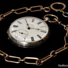 Relojes de bolsillo: BELLÍSIMO RELOJ DE BOLSILLO, ANTIGUO DE LOS AÑOS 1920, CON CARGA MANUAL, DE ORIGEN FRANCÉS, Y FUNCIO. Lote 127181494