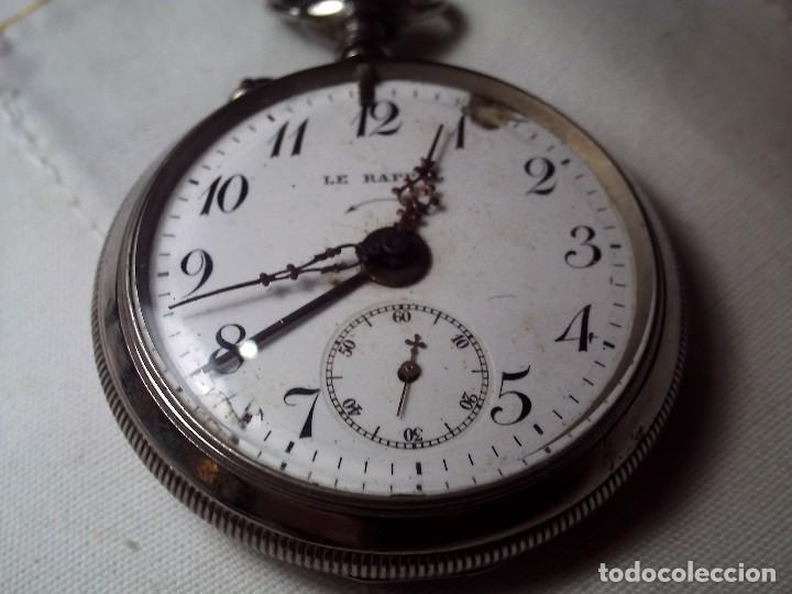 VIEJO RELOJ DE BOLSILLO LE RAPPEL SERVICIO DE ALARMA. (Relojes - Bolsillo Carga Manual)