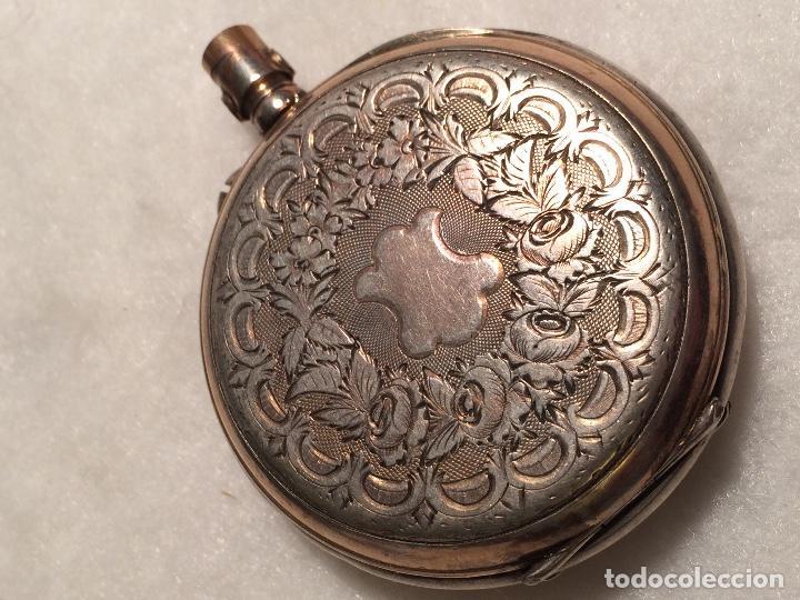 CAJA DE PLATA DE RELOJ DE BOLSILLO (Relojes - Bolsillo Carga Manual)