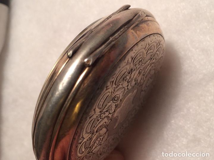 Relojes de bolsillo: Caja de plata de reloj de bolsillo - Foto 4 - 107604791