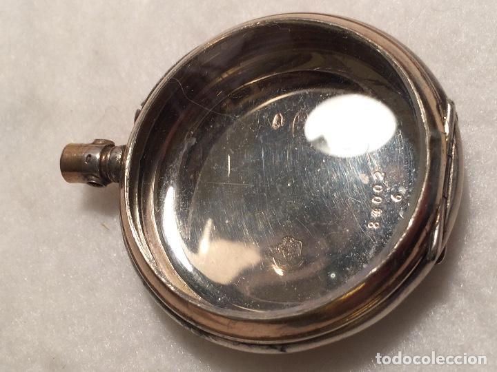 Relojes de bolsillo: Caja de plata de reloj de bolsillo - Foto 5 - 107604791