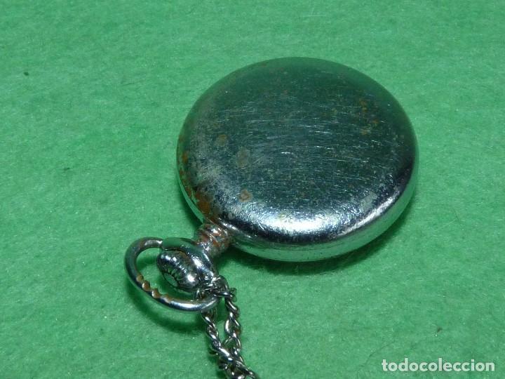 Relojes de bolsillo: Curioso reloj enfermera TITAN calibre FHF 96-4 carga manual 17 rubis fecha y cadena vintage años 60 - Foto 4 - 108273387