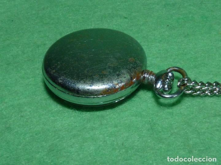 Relojes de bolsillo: Curioso reloj enfermera TITAN calibre FHF 96-4 carga manual 17 rubis fecha y cadena vintage años 60 - Foto 5 - 108273387