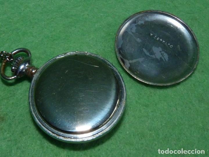 Relojes de bolsillo: Curioso reloj enfermera TITAN calibre FHF 96-4 carga manual 17 rubis fecha y cadena vintage años 60 - Foto 6 - 108273387