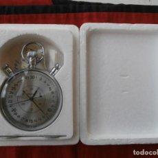 Relojes de bolsillo: ANTIGUO CRONÓMETRO MECÁNICO CUERDA DE PRECISIÓN SOVIÉTICO MARCA SLAVA UNIÓN SOVIÉTICA URSS RUSIA. Lote 108667407