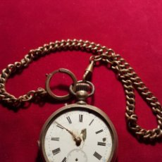 Relojes de bolsillo: ANTIGUO RELOJ PLATA DE BOLSILLO VOLANTE FUNCIONAL. Lote 108743446
