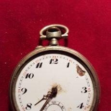 Relojes de bolsillo: ANTIGUO RELOJ PLATA DE BOLSILLO VOLANTE FUNCIONAL. Lote 108744240