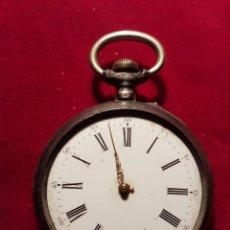 Relojes de bolsillo: ANTIGUO RELOJ PLATA DE BOLSILLO. Lote 108746524