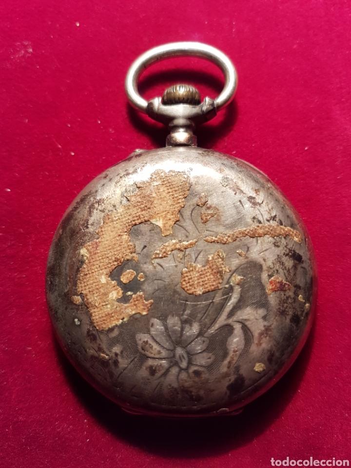 Relojes de bolsillo: Antiguo reloj plata de bolsillo - Foto 2 - 108746524