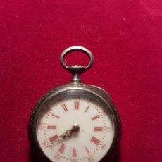 Relojes de bolsillo: ANTIGUO PEQUEÑO RELOJ PLATA DE BOLSILLO. Lote 108749228