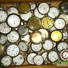 Relojes de bolsillo: RELOJES DE BOLSILLO ANTIGUOS PARA SU REVISIÓN ARREGLOS O PIEZAS DE REPUESTOS. Lote 108908231