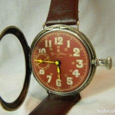 Relojes de bolsillo: VINTAGE TAMAÑO COMPLETO 43 MM TRINCHERA CUERVO Y SOBRINOS CUERDA AÑOS 20. Lote 108935263