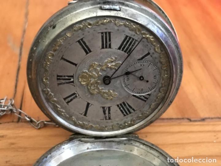 Relojes de bolsillo: Reloj de plata - Foto 5 - 109002591