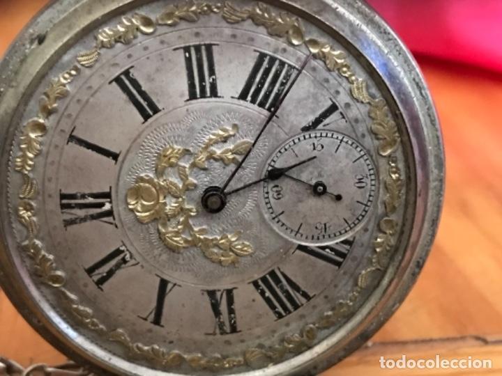 Relojes de bolsillo: Reloj de plata - Foto 8 - 109002591