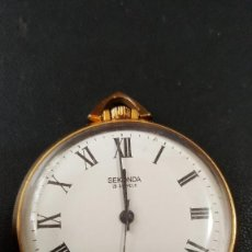 Relojes de bolsillo: PRECIOSO RELOJ USSR SEKONDA 17JEWES DE BOLSILLO. Lote 109036367