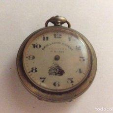 Relojes de bolsillo: RELOJ DE BOLSILLO DE TREN REGULADOR PATENT LEGITIMO 8 RUBIS DIAM. 43 MM. Lote 109207827