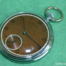 Relojes de bolsillo: PRECIOSO RELOJ ARCADIA BOLSILLO MECANICO 15 RUBIS CROMADO BUEN TAMAÑO CLASICO SWISS AÑOS 40. Lote 109535311