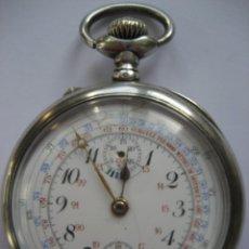 Relojes de bolsillo: RELOJ DE BOLSILLO VARIOS USOS, PLATA EN FUNCIONAMIENTO. Lote 109819367