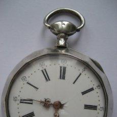 Relojes de bolsillo: RELOJ DE PLATA DE BOLSILLO. Lote 109827039