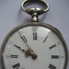 Relojes de bolsillo: RELOJ DE BOLSILLO DE PLATA. Lote 109832983